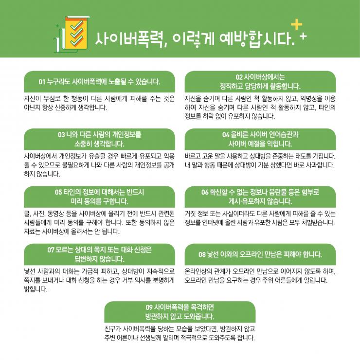 [카드뉴스형] 사이버폭력 예방대응 가이드(학생용)_F_3