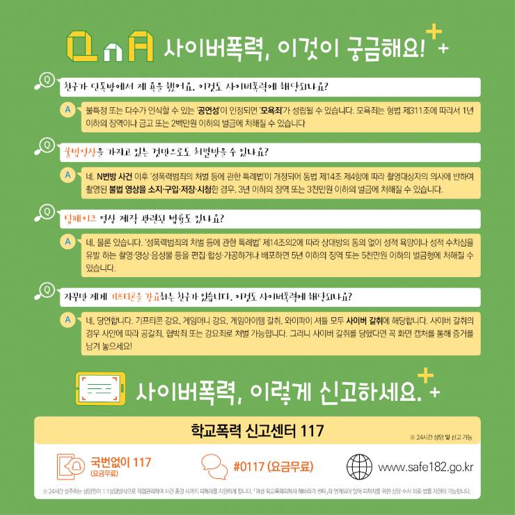 [카드뉴스형] 사이버폭력 예방대응 가이드(학생용)_F_5